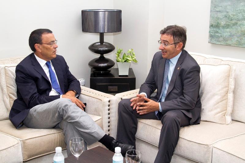 Ignacio Caraballo y Francisco Ruiz en su primera cita institucional.