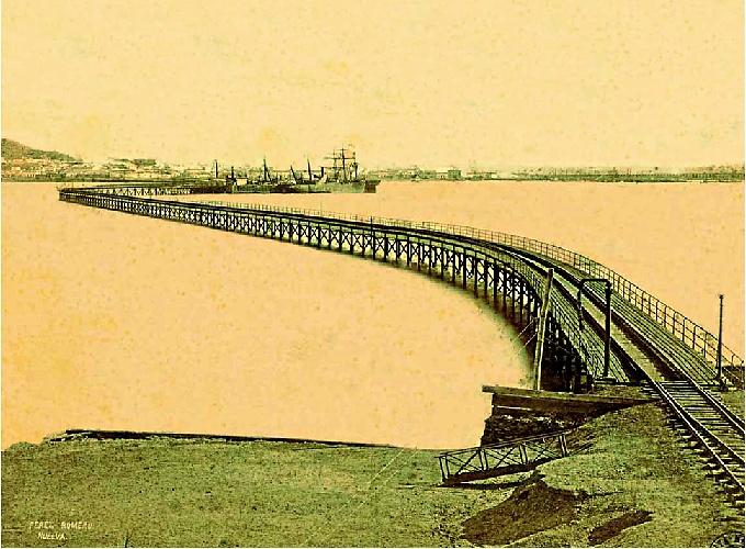 El Muelle de Tharsis antes de su ampliación. Fotografía: Archivo Nacional de Cataluña.