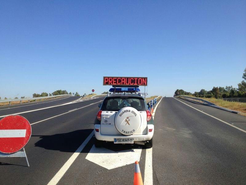 Entre las medidas destaca la instalación de carriles adicionales provisionales en la A-497 que une Huelva con Punta Umbría.