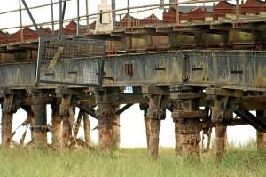 Estado actual de la estructura del viaducto del Muelle de Tharsis. Fotografía: Antonio L. Andivia.