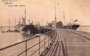 El Muelle Sur hacia principios del siglo XX. Postal de época.