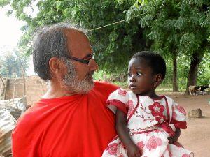 Manuel Raposo, de voluntario en África.
