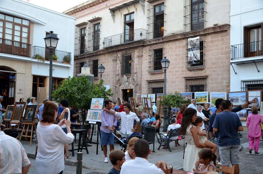 La plaza fue una fiesta cultural.