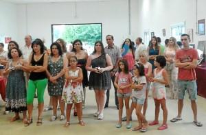Los artistas participantes en la muestra colectiva.