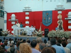 José García Muñoz, en las fiestas del Carmen de Punta Umbría.