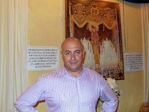 El presidente de la Hermandad de la Victoria, Luis Parrales.