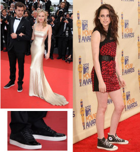 Algunas celebridades con zapatillas.