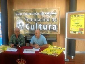 Manuel Ortiz y Emilio Bogarín en la rueda de prensa de presentación de la gala.