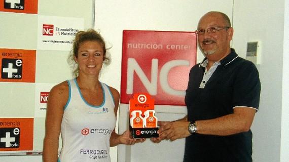 Una empresa onubense capta a la jugadora de pádel Celeste Paz como imagen de uno de sus productos