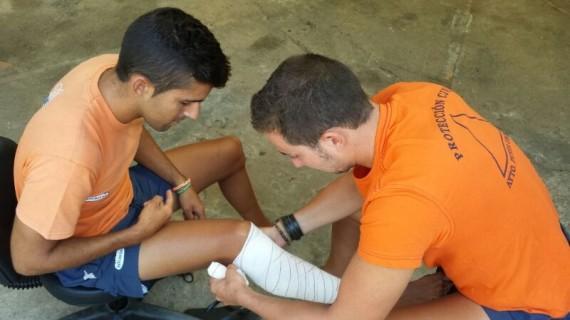 Voluntarios de protección civil de Punta Umbría realizan talleres de formación en la atención de los ciudadanos