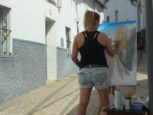 La pintura vuelve a las calles de Cortelazor.