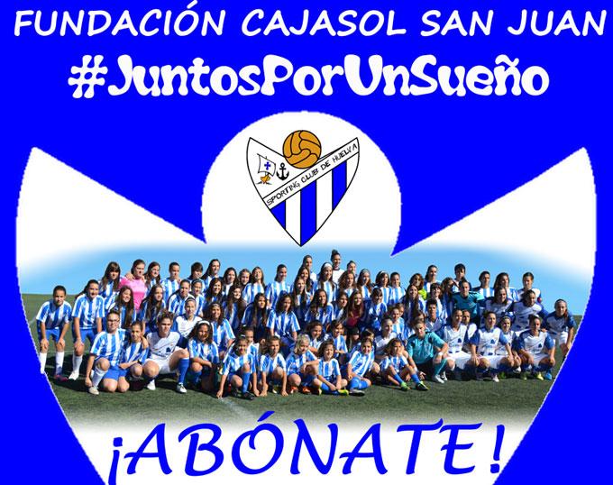Cartel de la campaña de socios del Fundación Cajasol San Juan, que fue presentada el viernes.