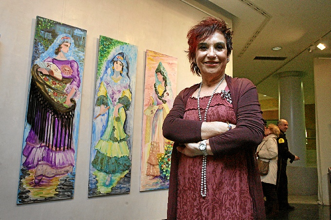 Antonia Peralto se jubiló para dedicarse a pintar.