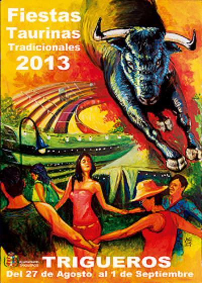 Cartel anunciador de las capeas de Trigueros.