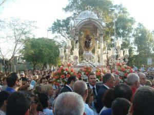 Bajada de la Virgen el pasado 18 de agosto.