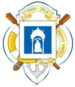 Emblema realizado con motivo de la celebración del Cincuentenario de la Virgen de la Cinta.