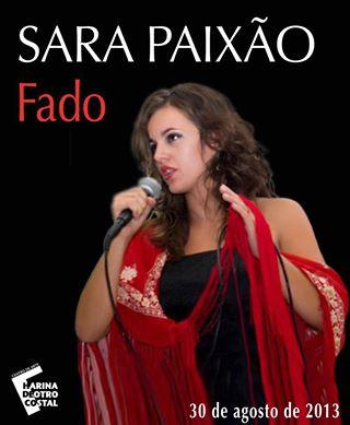 Cartel de la actuación de Sara Paixao.