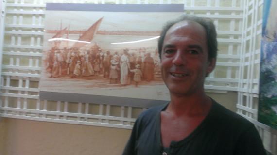 La esencia marinera de Punta Umbría en los dibujos de Gonzalo Llanes