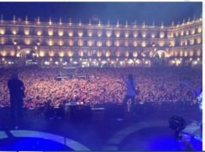 Imagen de un concierto reciente del artista en Salamanca. / Foto: www.huecco.es.