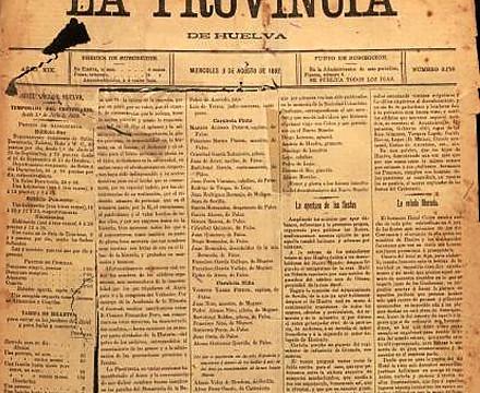 Una disputa entre dos periódicos de Huelva, el origen de las Fiestas Colombinas