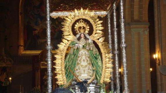 Comienza la Novena en honor a la Virgen de Montemayor en Moguer