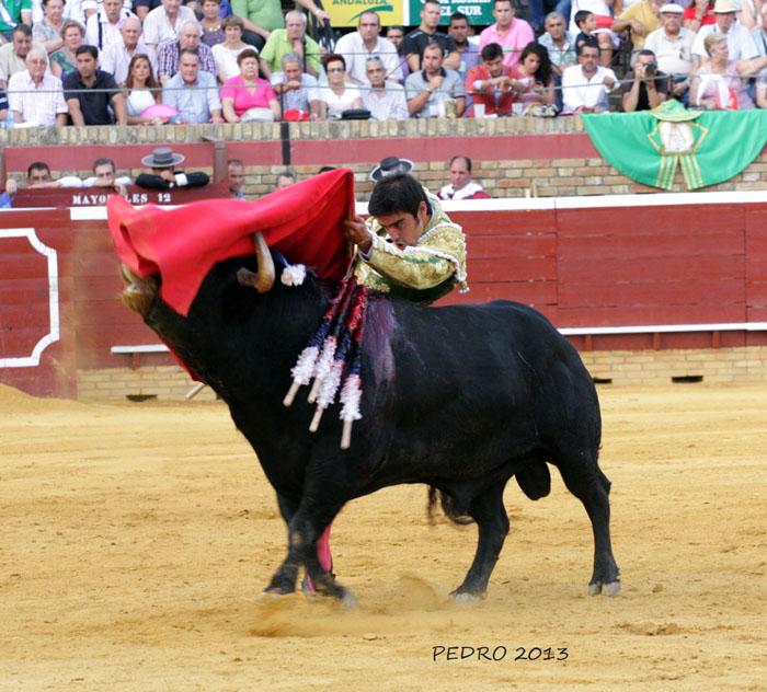 Perera no tuvo suerte en el coso onubense. / Foto: Pedro Delgado