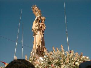 La imagen actual fue donada por el vizconde de La Palma.