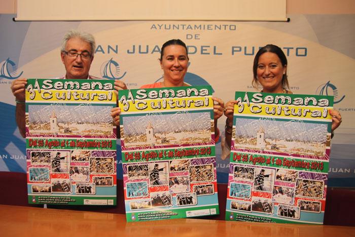Presentación del cartel de la 31 Semana Cultural de San Juan del Puerto.