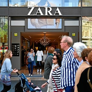 Zara está presente en todo el mundo.