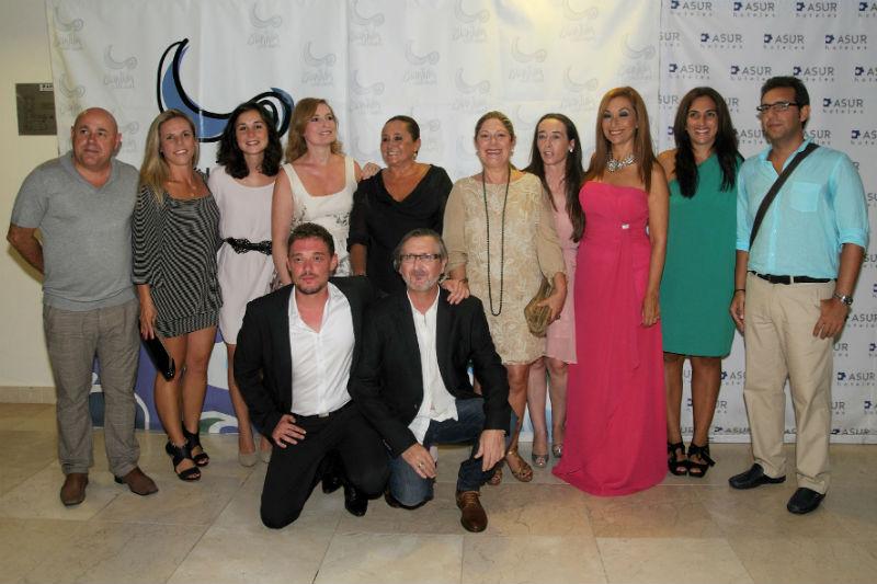 Foto de familia de la clausura del Festival de Cine de Islantilla.