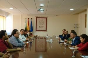 Encuentro del rector con el Sindicato UGT.