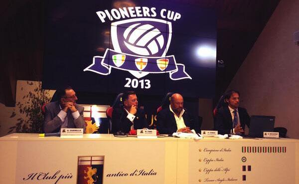 El Recreativo, presente en la firma de la entrada del Genoa en el Club de los Pioneros
