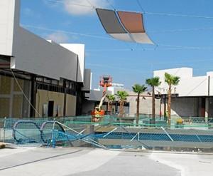 El centro está diseñado especialmente para los onubenses, con muchos espacios abiertos.