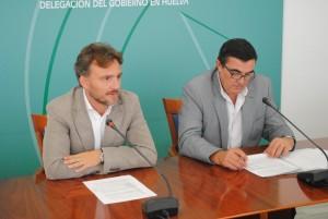 José Fiscal y Vicente Zarza en la presentación del nuevo curso escolar.