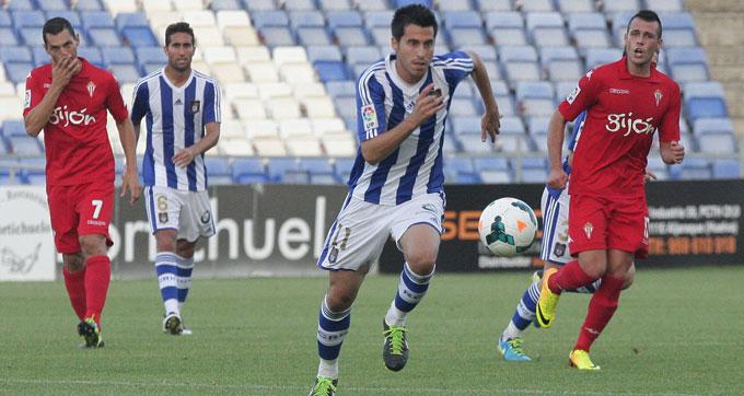 Jorge Larena deja la disciplina del Recre para marcharse al fútbol chipriota. / Foto: Josele Ruiz.