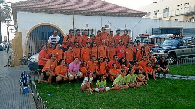 El equipo de Protección Civil de Punta Umbría.