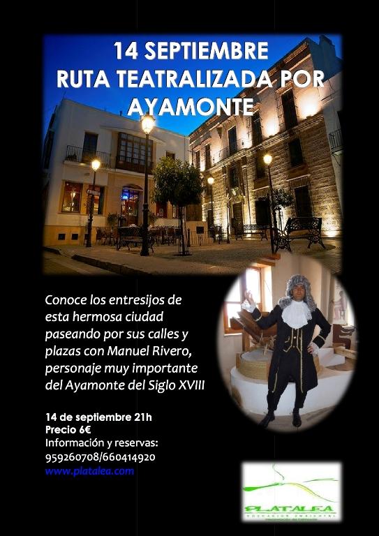 Cartel de la Ruta Teatralizada por Ayamonte.