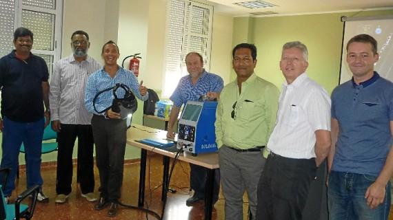 Empresas de India e Inglaterra se interesan en el Centro Municipal Los Rosales por el método de soldadura por simulación