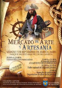 Cartel del mercadillo artesanal que se organiza este sábado en Aljaraque.