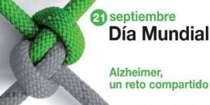 Cartel conmemorativo del Día Mundial del Alzheimer.
