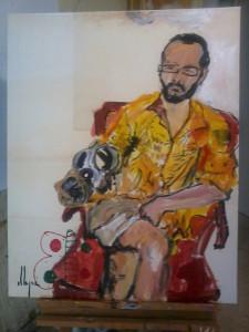 Víctor Pulido es uno de los artistas que se ha sumado al movimiento 'Examen'. / Foto: www.elexamen.es