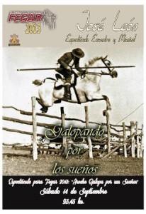 Cartel del espectáculo ecuestre 'Aroche galopa por sus sueños'.