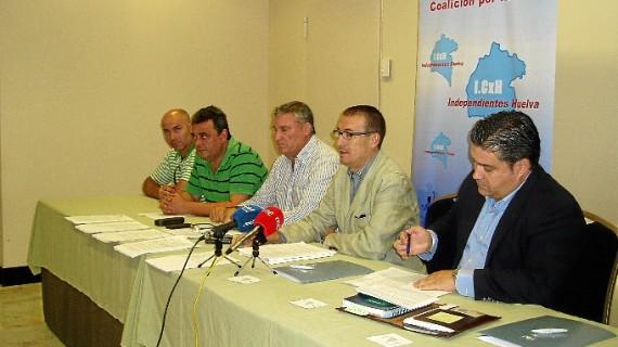 Independientes Coalición por Huelva presenta sus líneas de trabajo y anuncia la creación de nuevos partidos en la provincia