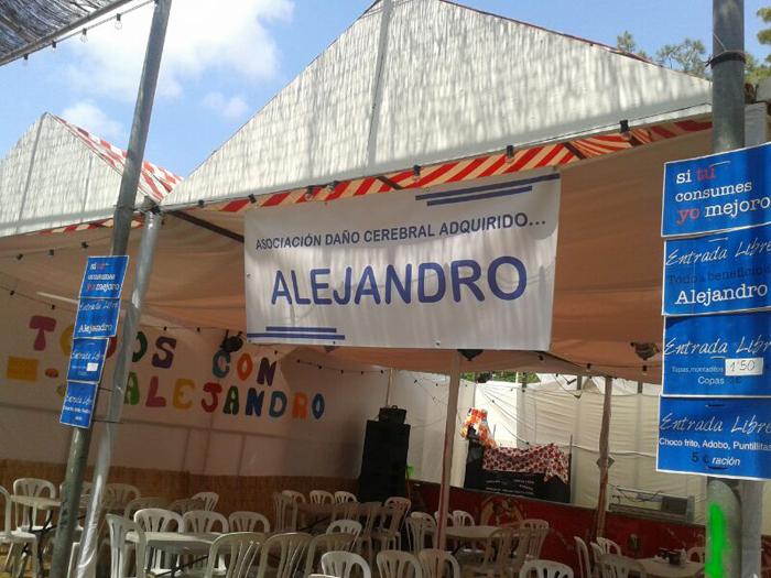 La caseta de Alejandro en la Feria de Moguer.