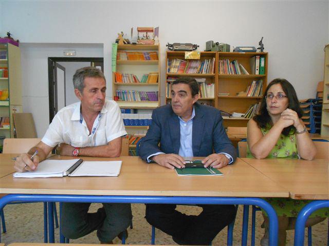 Zarza visitó el CEIP Virgen del Rosario en Minas Riotinto.
