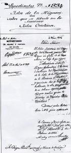 Documento en el que aparece el cambio de nombre Isla Cristina.