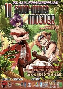 Cartel del Salón Manga de Moguer.