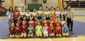 El equipo de gimnasia rítmica es uno de los representantes de Bollullos en La Provincia en Juego.