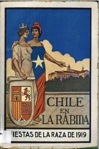Una de las hojillas lanzadas por el Club Palósfilo en 1919 con motivo de las Fiestas de la Raza (hoy Fiestas de la Hispanidad).