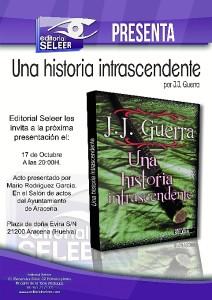 Cartel de presentación de la novela el próximo jueves 17 en Aracena.
